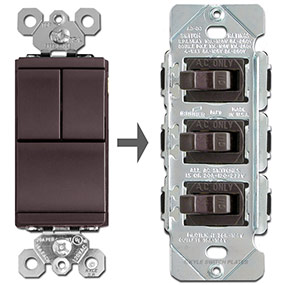 solutions for brown multiswitch rockers