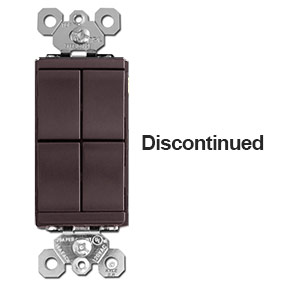 Brown 4-Rocker Light Switch