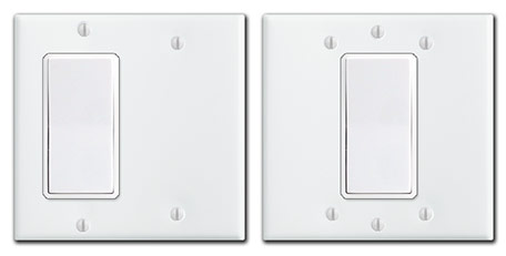 double electrical box with only 1 switch