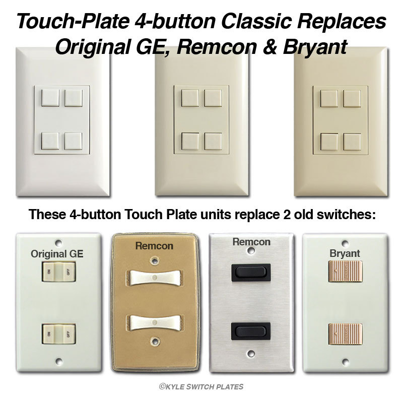 Info Button Touch Plate Replaces Swtiches on Remcon Low Voltage Switches