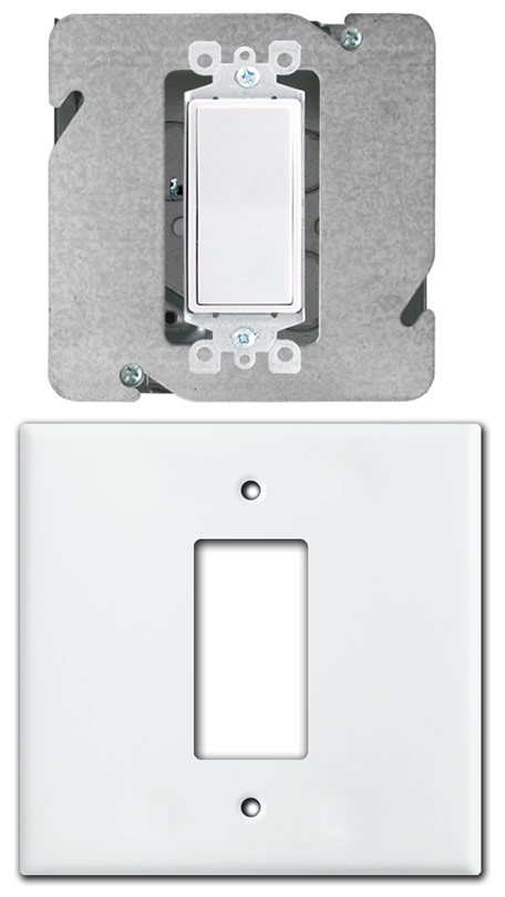 How To Install Centered Light Switch Or Outlet On 2 Gang Box