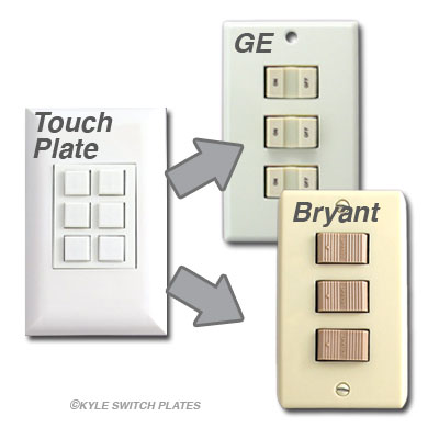 Info Touch Plate Compatible With Ge Bryant on Remcon Low Voltage Switches