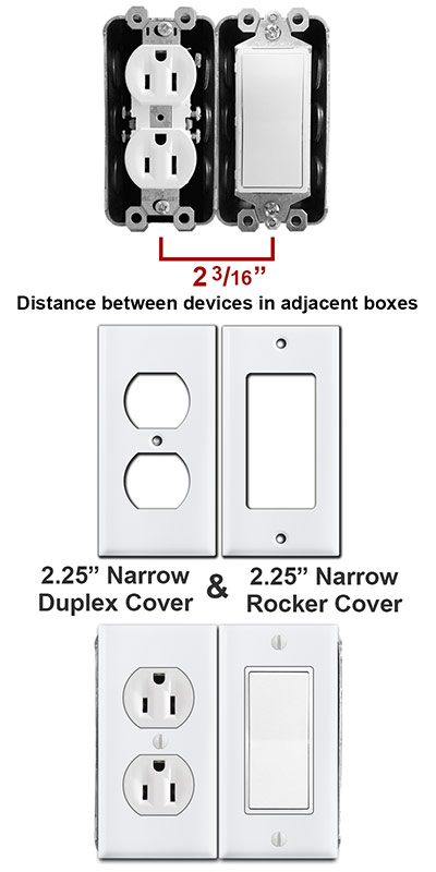 side by side single metal handy boxes