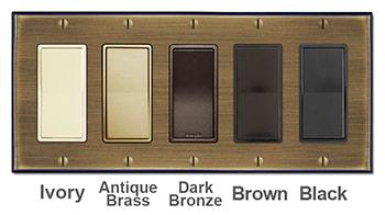 Antique Brass Wallplates