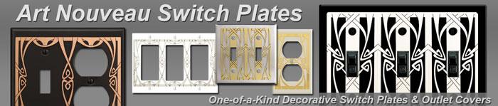 Decorative Art Nouveau Switch Plates