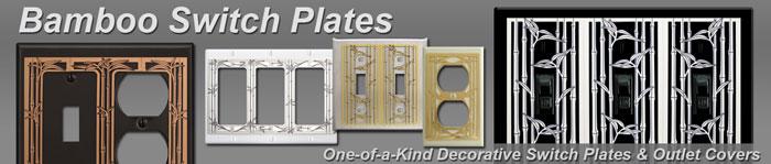 Decorative Bamboo Switch Plates