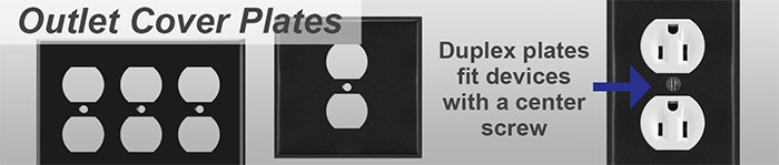 Black Outlet Covers