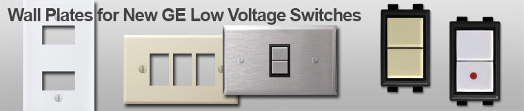 GE New Style Low Voltage Switch Plates