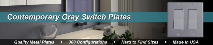 Gray Switch Plates - Grey Light Switch Covers in 50 Sizes