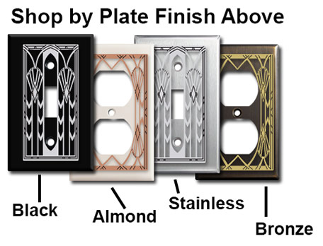 Art Deco Fan Plate Shop by Finish