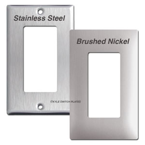 Stainless Steel & Nickel Switch Plate