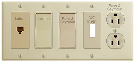 Ivory Switch Plates & Devices