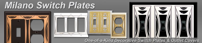 Decorative Milano Switch Plates