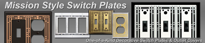 Decorative Mission Switch Plates