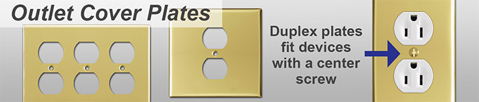 Polished Brass Outlet Cover Plates