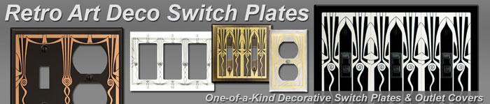 Decorative Retro Art Deco Banner