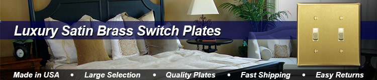 Satin Brass Switch Plates - Brushed Brass Light Switch Covers in 60 Sizes