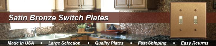 Satin Bronze Switch Plates