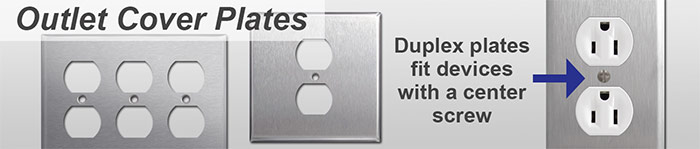 Stainless Steel Outlet Covers